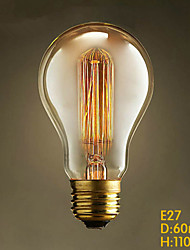 E27 40W A19 Straight Wire Of Modern Popular Decorative Edison Tungsten Light Bar