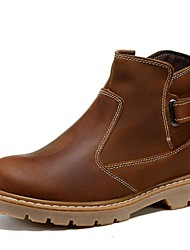 Women's Shoes Leather Flat HeelCowboy / Western Boots / Riding Boots / Fashion Boots / Motorcycle Boots / Work &