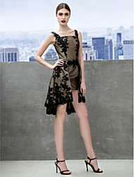 TS Couture® Prom  Cocktail Party Dress A-line Straps Knee-length Lace with Lace