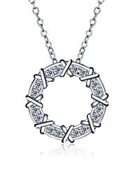 nuovi accessori di marca 925 collane zirconi donne d'argento di moda&ciondoli