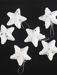 Fashion Merry Christmas White Snow Stars For Christmas Party Decoration 6 PCS
