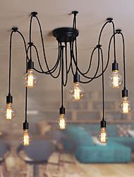 8 Lights Chandeliers / Pendant Lights Traditional/Classic / Retro Bedroom / Study Room/Office / Hallway E26/E27 Metal