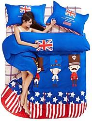 cartoon cama conjunto de 4pcs para uso de quatro temporadas