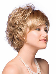 Blonde Short  Syntheic  Wave  Wig Extensions  Charming