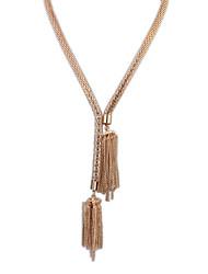 Women's Wild Magnetic Tassel Golden Necklace