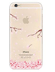iPhone 7 Plus Plum Flower Pattern TPU Material Soft Phone Case for iPhone 6s 6 Plus
