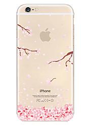 iphone 7 плюс сливы цветок шаблон TPU материал мягкий телефон случае для Iphone 6с 6 плюс