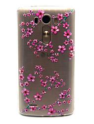Для Кейс для LG Прозрачный Кейс для Задняя крышка Кейс для Цветы Мягкий TPU LG LG G3 / LG Spirit / LG C70 H422