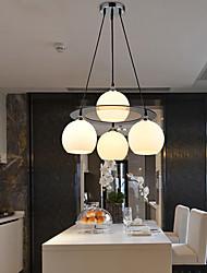 #(60W) Lampe suspendue ,  Contemporain Plaqué Fonctionnalité for LED VerreSalle de séjour / Chambre à coucher / Salle à manger /