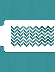 Chevron Cake Side Stencil, Cake Side Stencil, Cookie stencil, Wall Stencil,tools for decorating cakes,ST-351