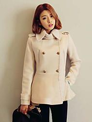 Women's Casual Long Sleeve Tweed Coat