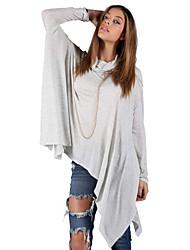 Coltrui - Polyester / Katoenmixen - Met ruches - Vrouwen - T-shirt - Lange mouw
