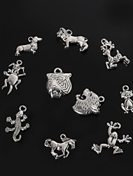 Beadia Metal Animal Charm Pendants Antique Silver Plated DIY Jewelry Accessories