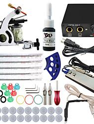 itatoo® kits principiantes tatuaje más baratos establecen con 5 agujas 1 tinta negro de la máquina 1 del tatuaje de la unidad 1 de