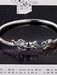 mode eenvoudige rozen openen van duizend mooie zilveren armband S999