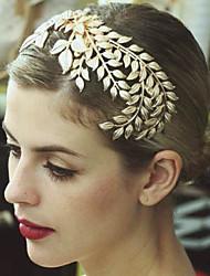 Bride's Leaves Shape Forehead Wedding  Tiaras Hair Combs 1 PC