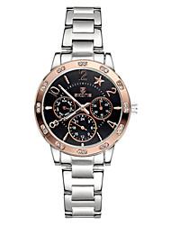Skone® Women's Chronograph Luminous Hands Star Rhinestone Rose Gold Silver Quartz Watches Cool Watches Unique Watches
