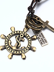 Jewelry Pendant Necklaces / Pendants Daily / Casual Leather / Copper 1pc Women / Men / Couples Wedding Gifts