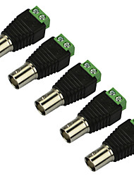 5pcs Coax CAT5 To Camera CCTV BNC Female Jack Video Balun Connector Adapter