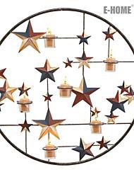 E-HOME® Metal Wall Art Wall Decor,Golden Stars Candlestick Wall Decor One PCS