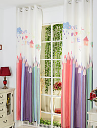 Two Panels Curtain Baroque , Novelty Kids Room Poly / Cotton Blend Material Curtains Drapes Home Decoration For Window