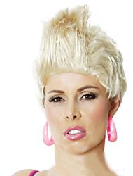Urlaub Partei Perücken neutral kurzen lockigen Haar schöner Pop-Rock-Sängerin in Europa und der Perücke