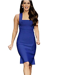 Women's Blue Dress , Sexy Sleeveless