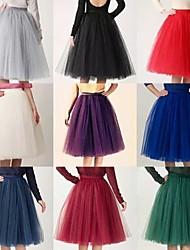 Slips Slip Knee-Length 4 Tier/Tulle 50s  Ball Gown Retro Underskirt Swing Vintage Tutu Petticoat(More Colors)
