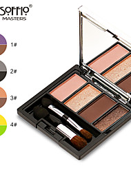 Soffio Earth Colors Nude Makeup Waterproof Matte Pearl Makeup Palette Eyeshadow