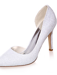 Women's Spring / Summer / Fall Pointed Toe Glitter Wedding / Party & Evening Stiletto Heel Black / Ivory / White