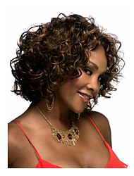 Lady Women Medium Brown  Syntheic  Wave  Wigs Extensions Beautiful wig