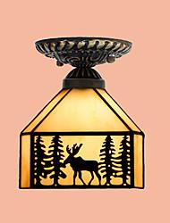 Contemprâneo / Tradicional/Clássico / Rústico/Campestre / Lanterna / Vintage / Retro LED Vidro Montagem do FluxoSala de Estar / Quarto /