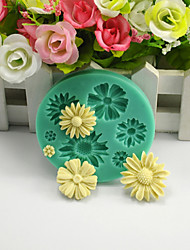 Daisy Daisies Flower DIY Silicone Chocolate Pudding Sugar Ice Cake Mold Color Random