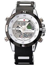 imperméable pellicule de silicone sangle idée cadeau numérique de marque requin lunette tourbillon conception hommes montre-bracelet du