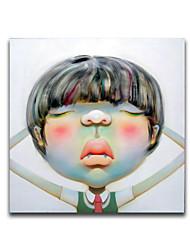 iarts®super-реализм большая голова мультфильм мальчик маслом 3d эффект стены художественное оформление растягивается