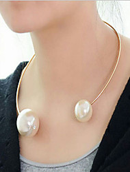 MPL Fashion short size Pearl Choker Necklace