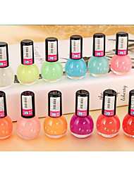 12pcs  Fashion Jelly Glow Nail Polish