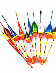Hot Sale! 10Pcs Different  Vertical Buoy Fish Floats Bobbers Fishing Float Set Fishing Tackle Tools Fishing Lure Float