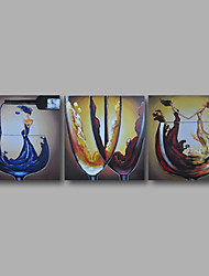 Ready to Hand Stretched Framed Hand-Painted Oil Painting Canvas Modern Dinning Room Home Deco Two Panels