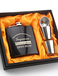 Bride / Groom / Bridesmaid / Groomsman Gifts-1 Piece/Set Flasks Modern Congratulations Stainless Steel Personalized Flasks Black Gift Box
