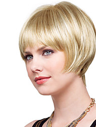 Fashionable Short Straight Hand Tied Top Human Virgin Remy Female Capless Hair Wig