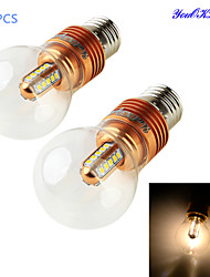 Ampoules Globe LED Décorative Blanc Chaud youOKLight 2 pièces B E26/E27 5W 25 SMD 2835 460 LM AC 85-265 V