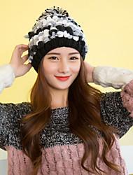 Fashion Women Colorful Acrylic Beanie  Hats Pompon LD00062