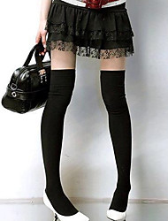 Women's Cotton over Knee Simple Stockings
