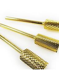 1шт золотые шлифовальные головки ногтей инструменты цилиндрические стальные истиранию вольфрама доказательство Лак для ногтей машины