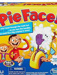 Coreia do homem que corria jogo cara torta de creme no rosto bater o brinquedo de paternidade consolas de jogos catapulta foguete máquina