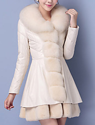 Women Fox Fur Outerwear , Belt Included