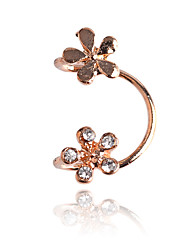 Earring Flower Ear Cuffs Jewelry Women Party / Daily / Casual Crystal / Silver Plated / Gold Plated 1pc