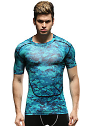 Running Tops Men's Breathable Running Sports Sports Wear Blue S / M / L / XL / XXL