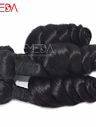 "3pcs/Lot 8""-30"" Unprocessed Raw Remy Indian Loose Wave Virgin Hair Human Hair Extensions Natural Black Hair Weaving"